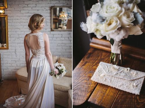 Charming White Winter Vintage Wedding
