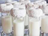 serve milk with donuts to cozy up your guests and make them feel like in a holiday morning