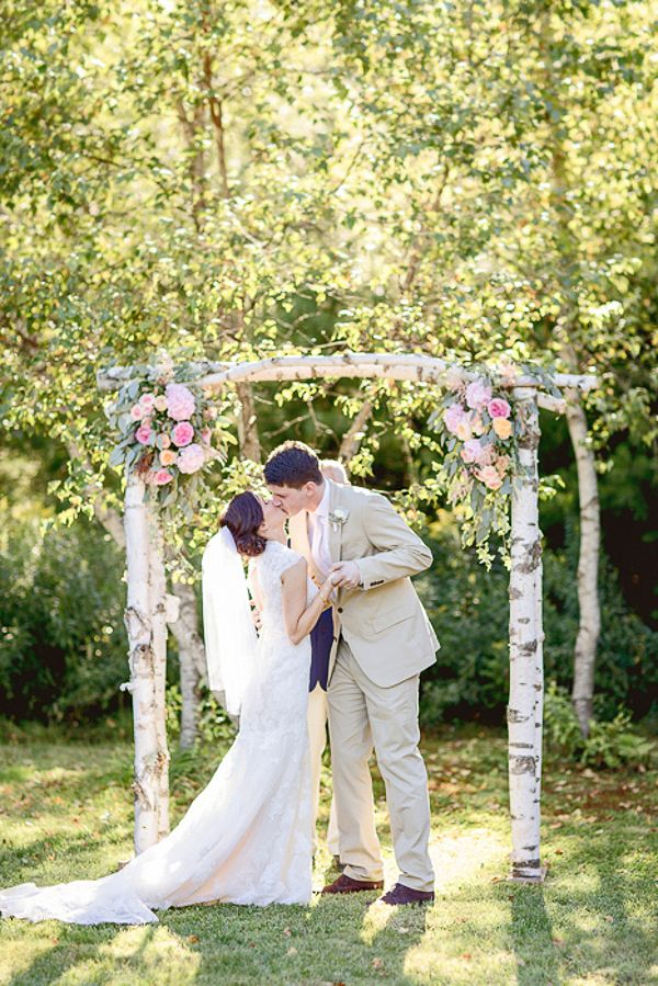 Picture Of charming woodland wedding arches and altars  21
