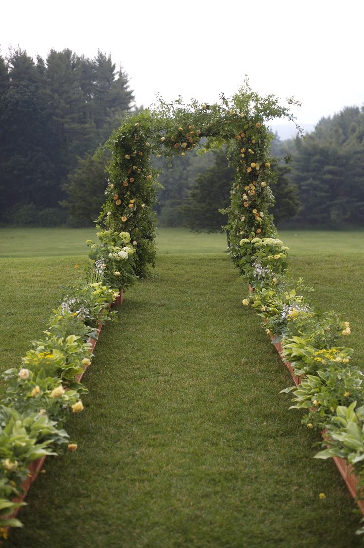Picture Of charming woodland wedding arches and altars  23