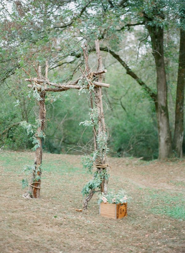 Picture Of charming woodland wedding arches and altars  24