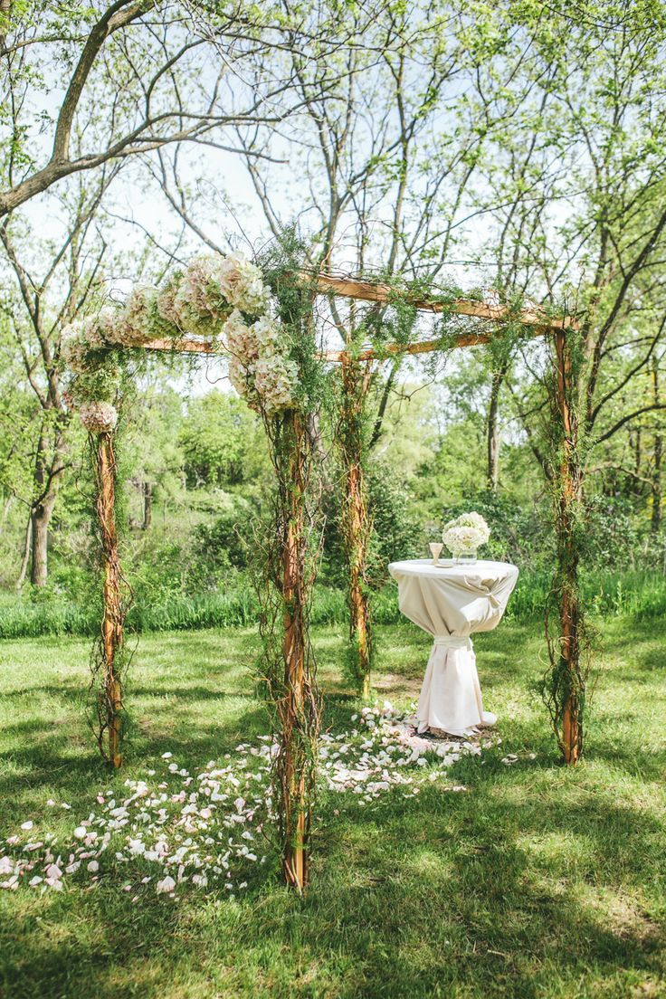 Picture Of charming woodland wedding arches and altars  27