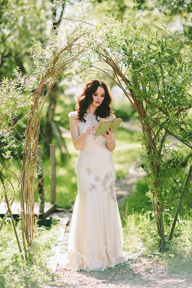 Picture Of charming woodland wedding arches and altars  32