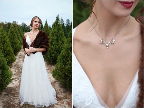 Charmingly Beautiful Snowy Holiday Wedding Inspiration