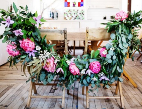 Budget Savvy Yet Pretty DIY Floral Garland