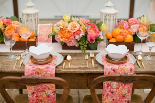 Cheerful Citrus Summer Wedding Inspiration With Lush Flowers