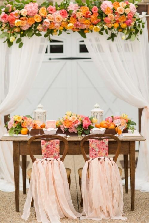 Cheerful Citrus Summer Wedding Inspiration With Lush Flowers