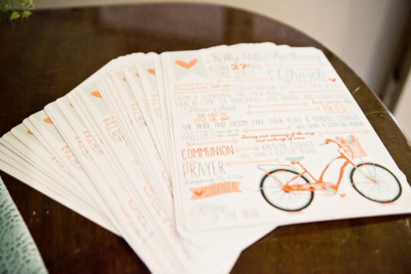 Cheerful Coastal Wedding With Bicycle Decor Details