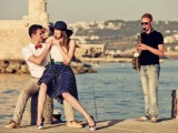 Cheerful Engagement Session In Greece