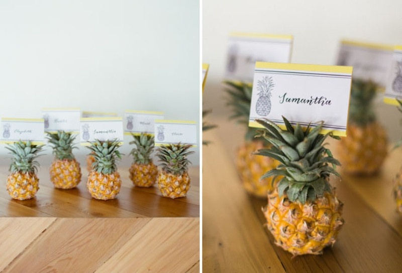 Picture Of cheerful kate spade inspired wedding shoot with pineapples decor  10