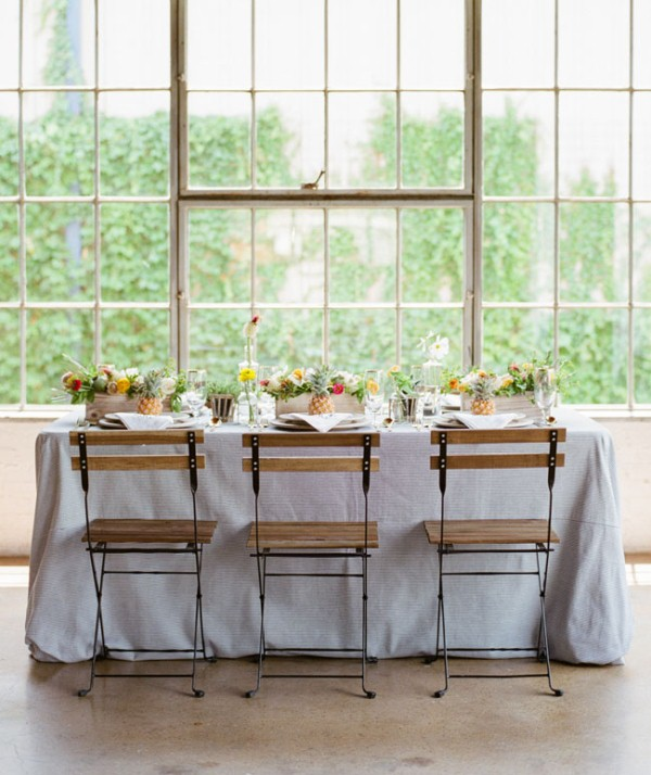 Picture Of cheerful kate spade inspired wedding shoot with pineapples decor  11