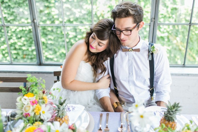 Picture Of cheerful kate spade inspired wedding shoot with pineapples decor  14