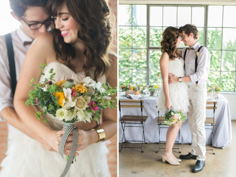 Picture Of cheerful kate spade inspired wedding shoot with pineapples decor  16