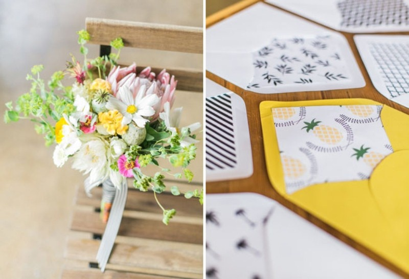 Picture Of cheerful kate spade inspired wedding shoot with pineapples decor  2