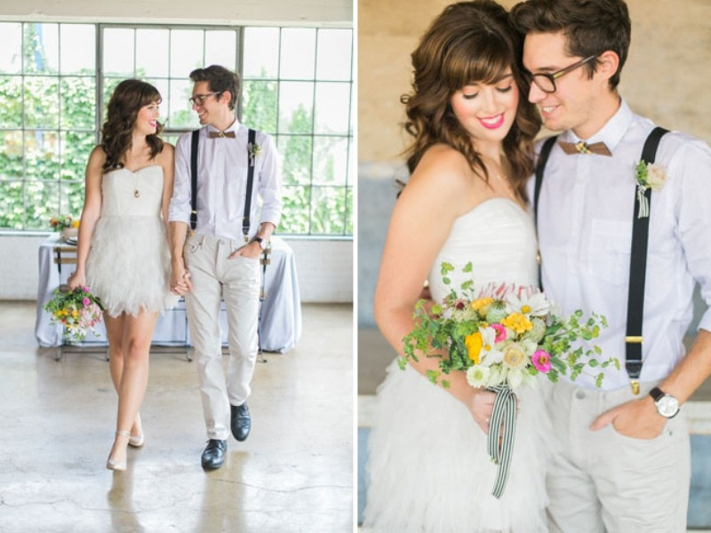 Picture Of cheerful kate spade inspired wedding shoot with pineapples decor  6