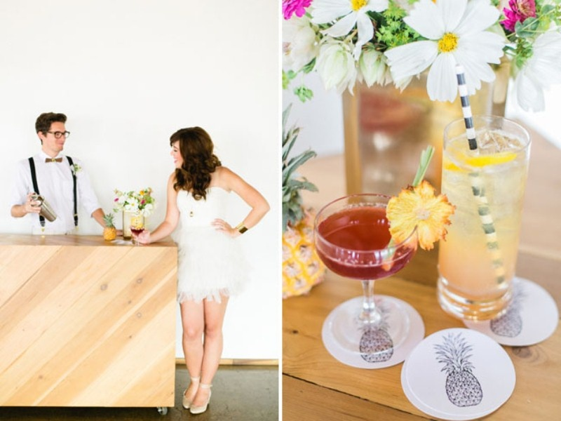 Picture Of cheerful kate spade inspired wedding shoot with pineapples decor  8