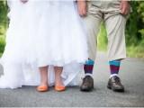 Cheerful Orange And Teal Summer Wedding