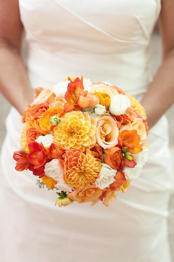 Cheerful Orange Beach Wedding Ideas