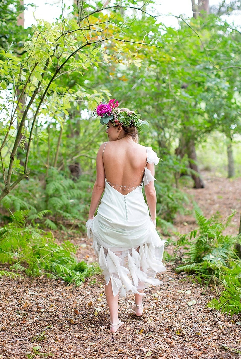wedding cakes pic picture of cheerful woodland boho chic wedding in norfolk 25265
