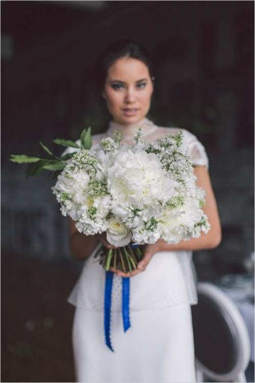 Chic And Elegant Blue White And Black Wedding Inspiration