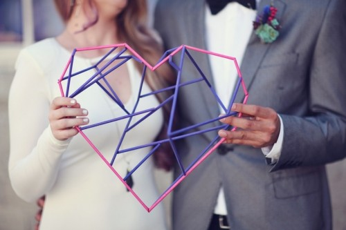 Chic And Modern Cosmic Love Wedding Inspiration
