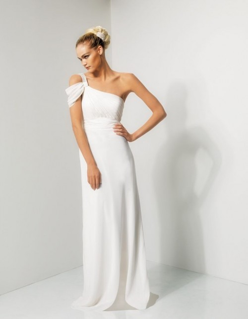Wedding Dresses One Shoulder 38 Fabulous Chic And Romantic One