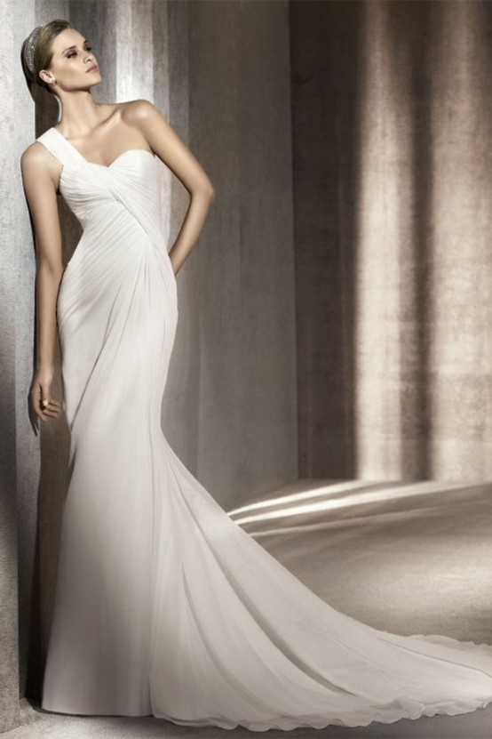 Wedding Dresses One Shoulder 9 Nice Chic And Romantic One