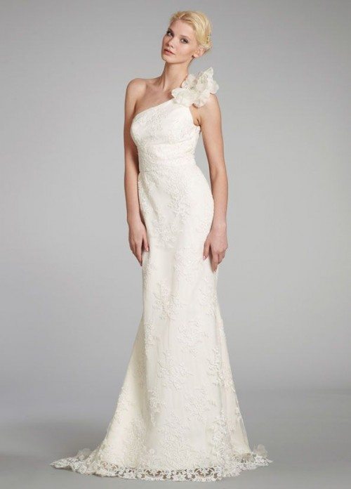 Wedding Dresses One Shoulder 40 Nice Chic And Romantic One