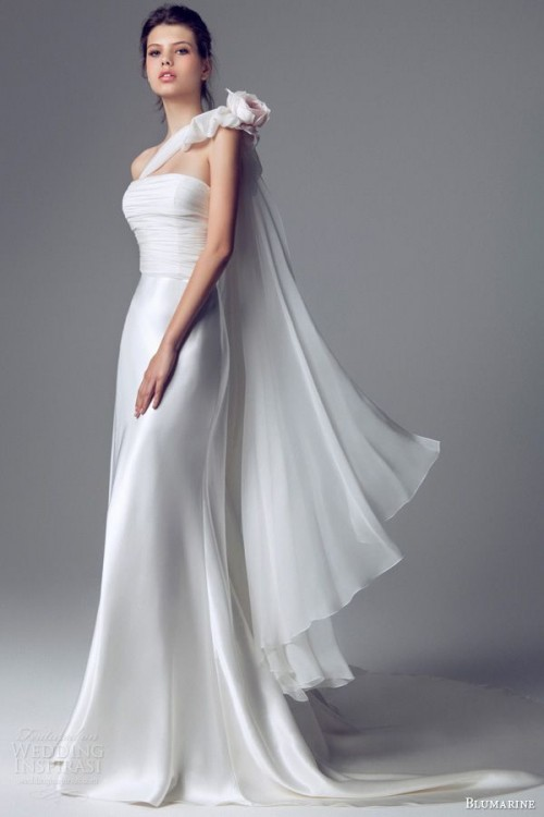 Chic And Romantic One Shoulder Wedding Dresses