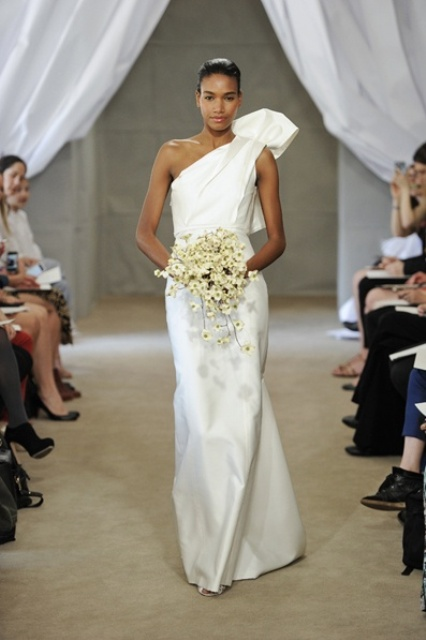 Wedding Dresses One Shoulder 60 Amazing Chic And Romantic One