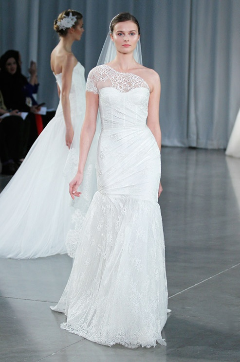 Wedding Dresses One Shoulder 20 Simple Chic And Romantic One