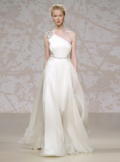Wedding Dresses One Shoulder 71 Stunning Chic And Romantic One