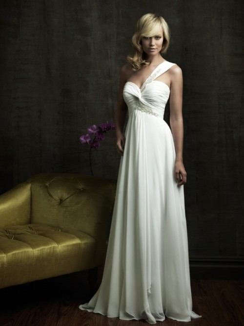 Wedding Dresses One Shoulder 39 Inspirational Chic And Romantic One