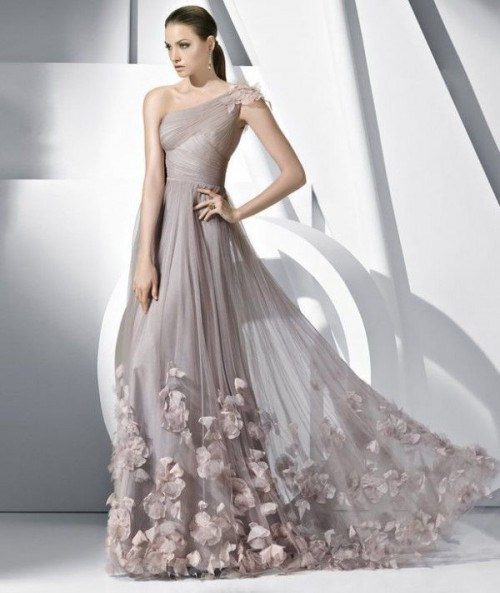 Wedding Dresses One Shoulder 63 Fabulous Chic And Romantic One