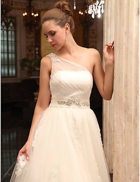 Wedding Dresses One Shoulder 54 Nice Chic And Romantic One
