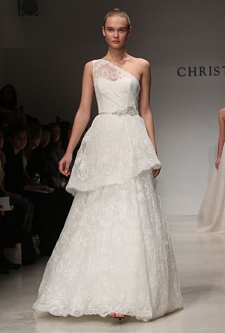 Wedding Dresses One Shoulder 17 Ideal Chic And Romantic One