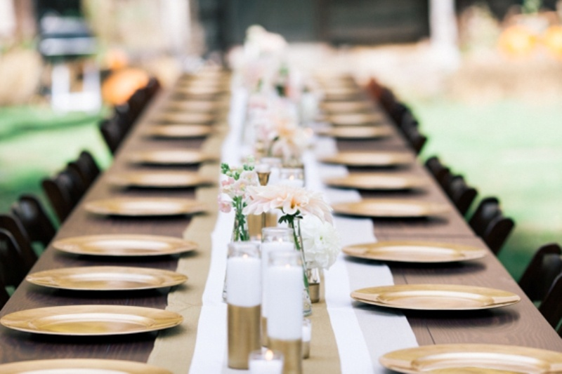 Picture Of Chic Diy Gold Decor Ideas For Your Wedding Table
