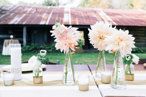 Chic Diy Gold Decor Ideas For Your Wedding Table