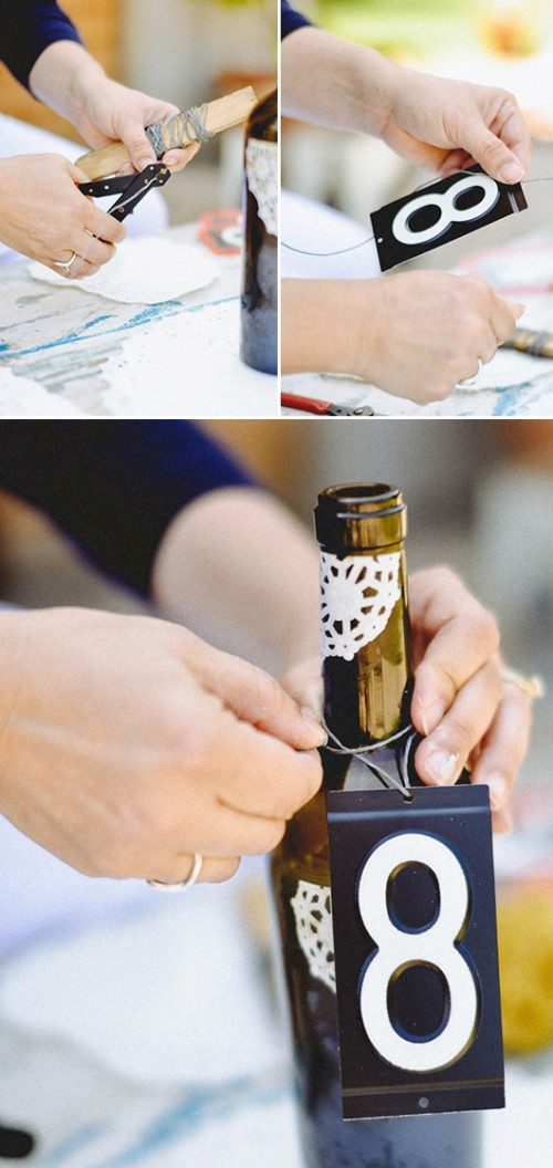 Chic Diy Wine Bottle Table Numbers