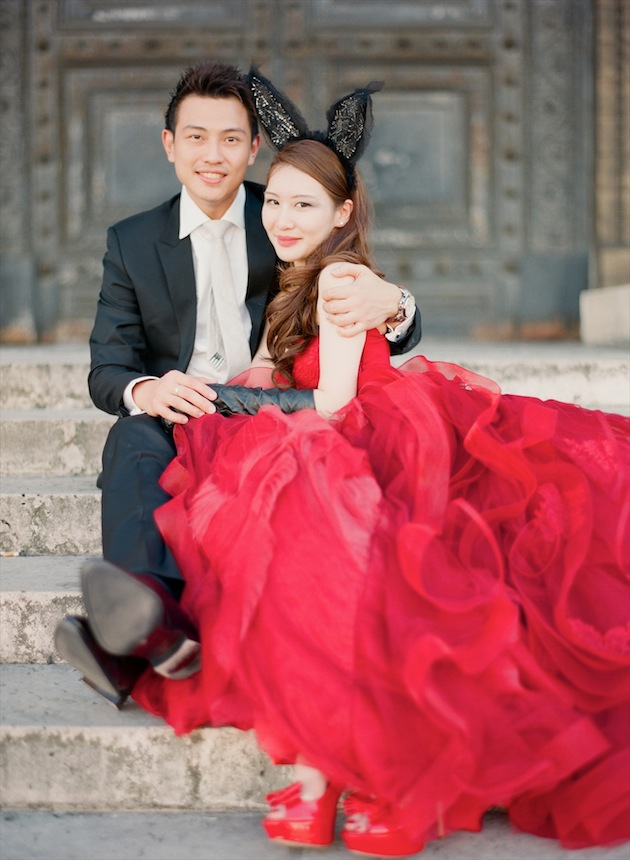 Red Wedding Dresses Vera Wang