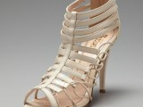 sexy strappy and lace up high heels will make a fashion statement in your bridal look