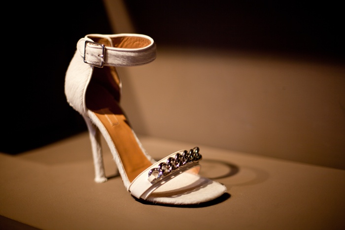 white ankle strap heeled sandals with embellished tops look chic, stylish and will add a touch of bling to your look