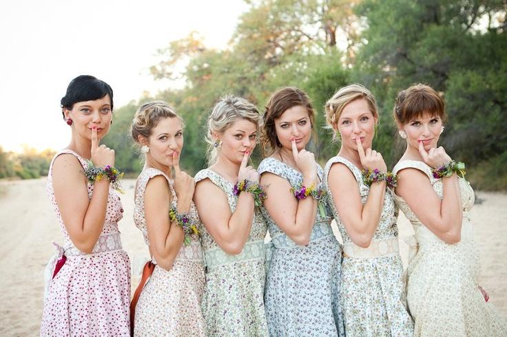 Chic vintage bridesmaids dresses weddingomania