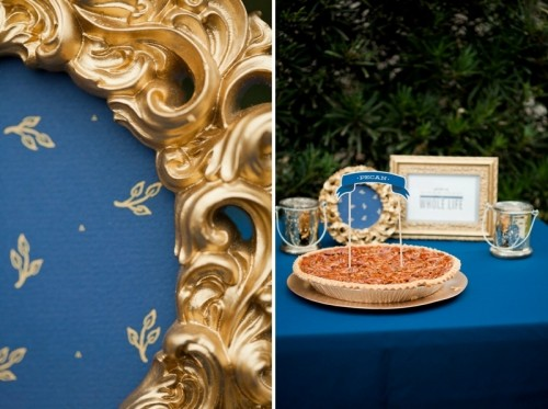 Chic Woodland Navy And Gold Wedding Inspiration