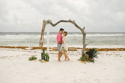 Citrus Beach Wedding Inspiration In Bold Colors
