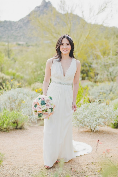 Classic And Elegant White Desert Wedding