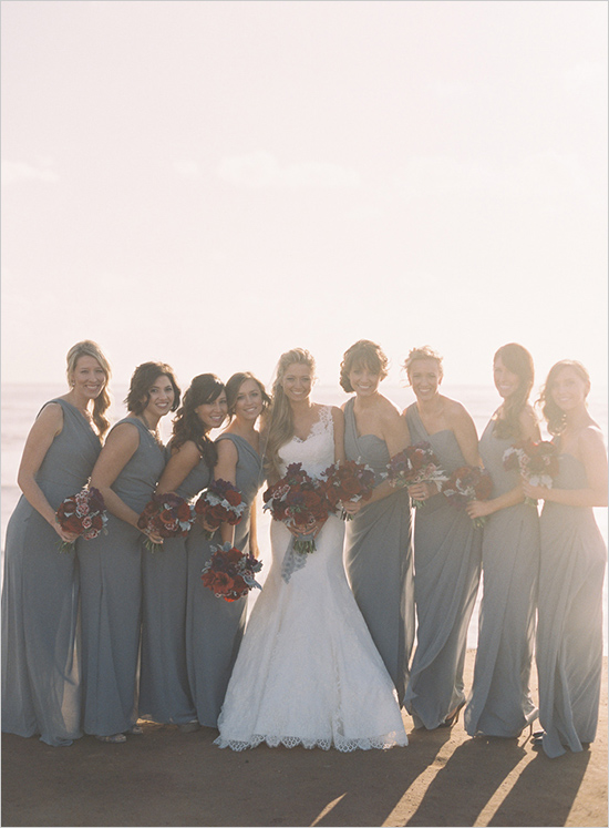 Picture Of Classical Red And Grey California Wedding Theme