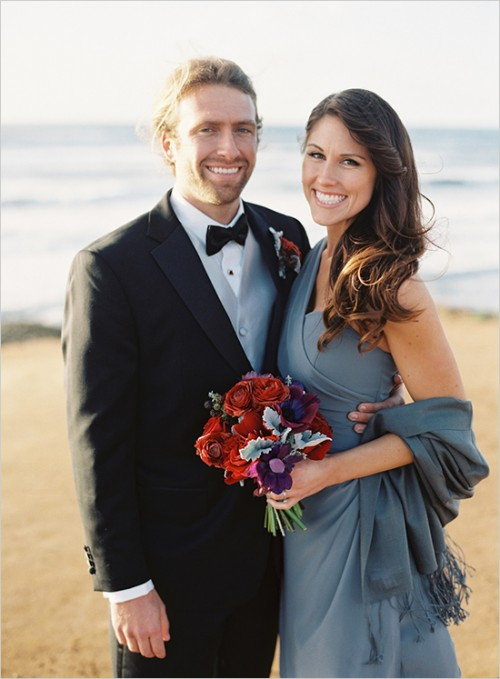 Classical Red And Grey California Wedding Theme