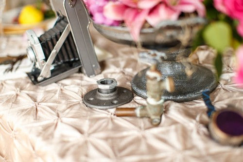 Colorful And Bright Steampunk Wedding Shoot