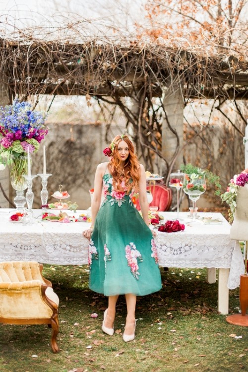 Colorful And Creative Botanical Bridal Shower